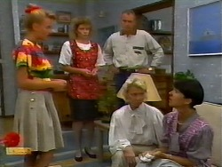 Bronwyn Davies, Beverly Marshall, Jim Robinson, Helen Daniels, Hilary Robinson in Neighbours Episode 0921