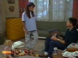 Sky Bishop, Kerry Bishop, Joe Mangel in Neighbours Episode 0923
