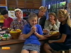 Hilary Robinson, Helen Daniels, Katie Landers, Scott Robinson, Henry Ramsay, Bronwyn Davies in Neighbours Episode 0926