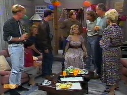 Scott Robinson, Hilary Robinson, Bronwyn Davies, Paul Robinson, Mike Young, Jenny Owens, Henry Ramsay, Jim Robinson, Helen Daniel in Neighbours Episode 0926