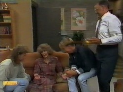 Henry Ramsay, Madge Bishop, Scott Robinson, Harold Bishop in Neighbours Episode 0927