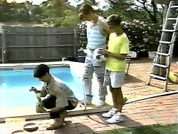 Hilary Robinson, Mike Young, Todd Landers in Neighbours Episode 0928