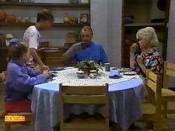Katie Landers, Todd Landers, Jim Robinson, Helen Daniels in Neighbours Episode 0932