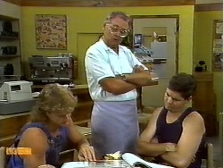 Henry Ramsay, Harold Bishop, Joe Mangel in Neighbours Episode 0932