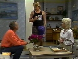 Jim Robinson, Nick Page, Helen Daniels in Neighbours Episode 0932