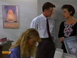 Jane Harris, Paul Robinson, Gail Robinson in Neighbours Episode 0933