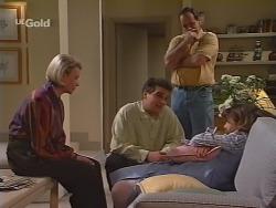 Helen Daniels, Mark Gottlieb, Philip Martin, Hannah Martin in Neighbours Episode 2298