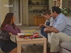 Cody Willis, Hannah Martin, Philip Martin in Neighbours Episode 2299
