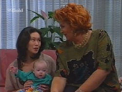 Ling-Mai Chan, Louise Carpenter (Lolly), Cheryl Stark in Neighbours Episode 2301
