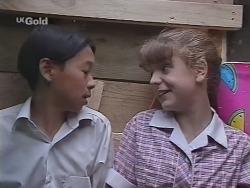 Robert Dong, Hannah Martin in Neighbours Episode 2303