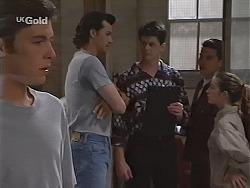 Malcolm Kennedy, Sam Kratz, Father Michael Graham, Mark Gottlieb, Bianca Zanotti in Neighbours Episode 2304