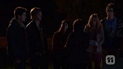 Chris Pappas, Andrew Robinson, Summer Hoyland, Sophie Ramsay, Natasha Williams, Ed Lee in Neighbours Episode 6471