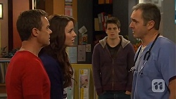 Paul Robinson, Kate Ramsay, Chris Pappas, Karl Kennedy in Neighbours Episode 6472