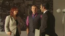 Charlotte McKemmie, Toadie Rebecchi, Ajay Kapoor in Neighbours Episode 6477