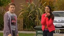 Callum Rebecchi, Rani Kapoor in Neighbours Episode 6478