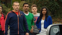 Rani Kapoor, Toadie Rebecchi, Ajay Kapoor, Callum Rebecchi, Priya Kapoor in Neighbours Episode 6478