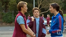 Harley Canning, Callum Rebecchi, Kate Ramsay in Neighbours Episode 6483