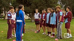 Kate Ramsay, Callum Rebecchi, Rani Kapoor, Harley Canning in Neighbours Episode 6483