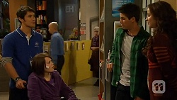 Aidan Foster, Sophie Ramsay, Chris Pappas, Kate Ramsay in Neighbours Episode 6485