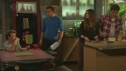 Harley Canning, Rhys Lawson, Jade Mitchell, Kyle Canning in Neighbours Episode 6489