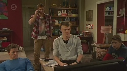 Rhys Lawson, Kyle Canning, Harley Canning, Callum Jones in Neighbours Episode 6489