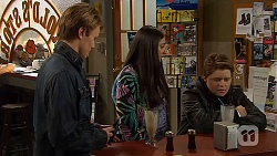 Harley Canning, Rani Kapoor, Callum Rebecchi in Neighbours Episode 6498