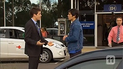 Chris Pappas, Aidan Foster in Neighbours Episode 6501