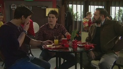 Aidan Foster, Chris Pappas, George Pappas in Neighbours Episode 6502