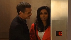 Paul Robinson, Priya Kapoor in Neighbours Episode 6503