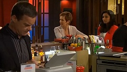 Paul Robinson, Susan Kennedy, Priya Kapoor in Neighbours Episode 6503
