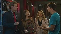 Andrew Robinson, Summer Hoyland, Natasha Williams, Chris Pappas in Neighbours Episode 6506
