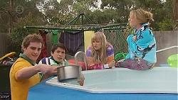 Kyle Canning, Aidan Foster, Georgia Brooks, Natasha Williams in Neighbours Episode 6513