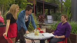 Natasha Williams, Chris Pappas, Rhys Lawson in Neighbours Episode 6518