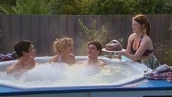 Aidan Foster, Natasha Williams, Chris Pappas, Summer Hoyland in Neighbours Episode 6518