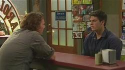 Lucas Fitzgerald, Chris Pappas in Neighbours Episode 6519
