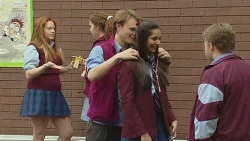 Harley Canning, Rani Kapoor, Callum Jones in Neighbours Episode 6522