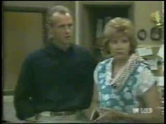 Jim Robinson, Madge Mitchell in Neighbours Episode 0212