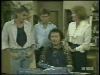 Shane Ramsay, Danny Ramsay, Max Ramsay, Madge Bishop in Neighbours Episode 0213