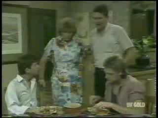 Danny Ramsay, Madge Bishop, Des Clarke, Shane Ramsay in Neighbours Episode 0215