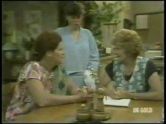 Laura Dennison, Nikki Dennison, Madge Bishop in Neighbours Episode 0217