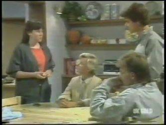 Nikki Dennison, Helen Daniels, Danny Ramsay, Scott Robinson in Neighbours Episode 0222