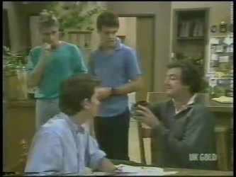 Shane Ramsay, Danny Ramsay, Paul Robinson, Max Ramsay in Neighbours Episode 0227