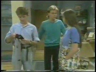 Danny Ramsay, Scott Robinson, Nikki Dennison in Neighbours Episode 0227