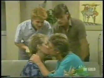 Clive Gibbons, Daphne Clarke, Shane Ramsay, Mike Young in Neighbours Episode 0228