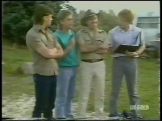 Mike Young, Shane Ramsay, Jack Lassiter, Clive Gibbons in Neighbours Episode 0228