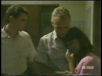 Des Clarke, Jim Robinson, Zoe Davis in Neighbours Episode 0230