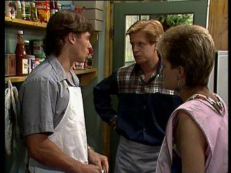 Mike Young, Clive Gibbons, Daphne Clarke in Neighbours Episode 0237