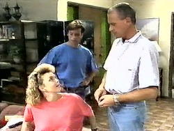 Jenny Owens, Mike Young, Jim Robinson in Neighbours Episode 0936
