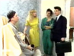 Joe Mangel, Jane Harris, Gail Robinson, Paul Robinson in Neighbours Episode 0936