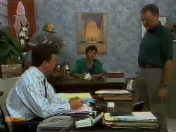 Paul Robinson, Gail Robinson, Harold Bishop in Neighbours Episode 0938